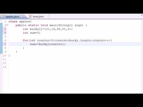 Java Programming Tutorial – 29 – Summing Elements of Arrays