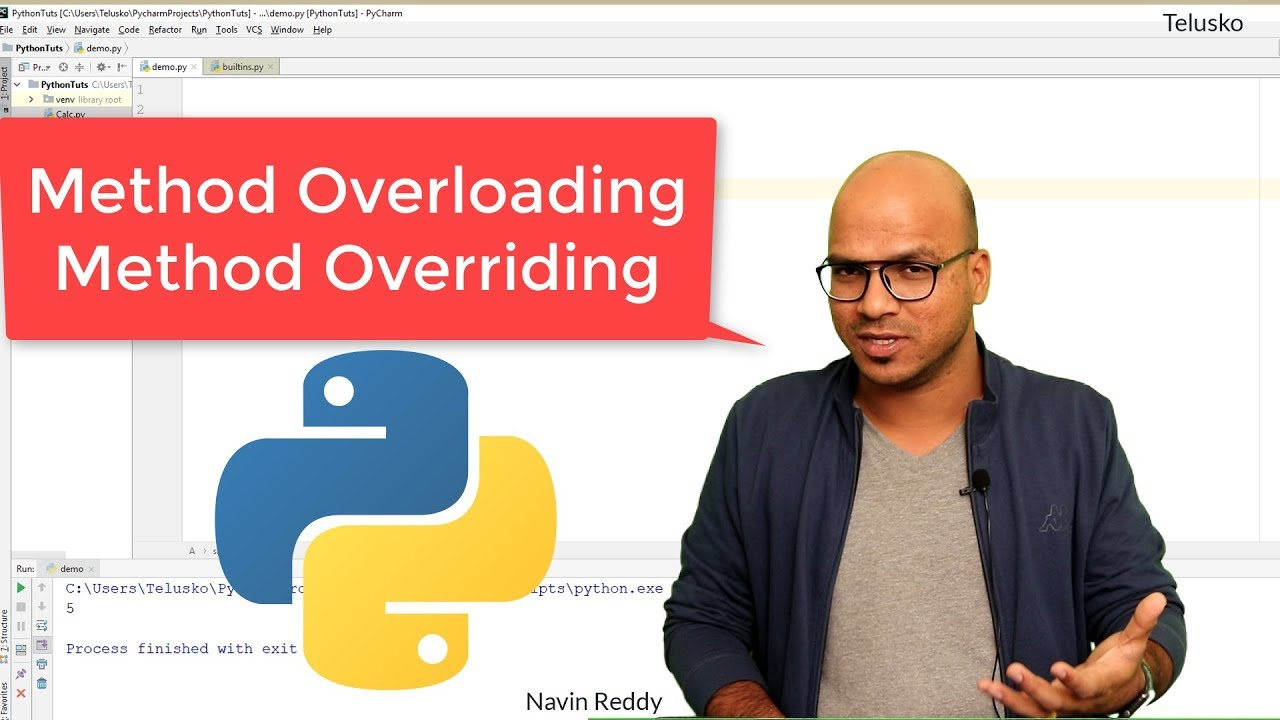 #60 Python Tutorial for Beginners | Method Overloading and Method Overriding