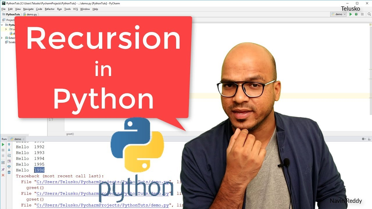 #40 Python Tutorial for Beginners | Recursion