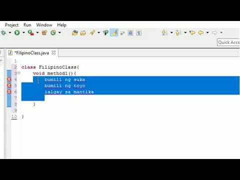 JAVA PROGRAMMING TUTORIAL 1 (FILIPINO/TAGALOG) (BEGINNERS) – How to run a basic java program