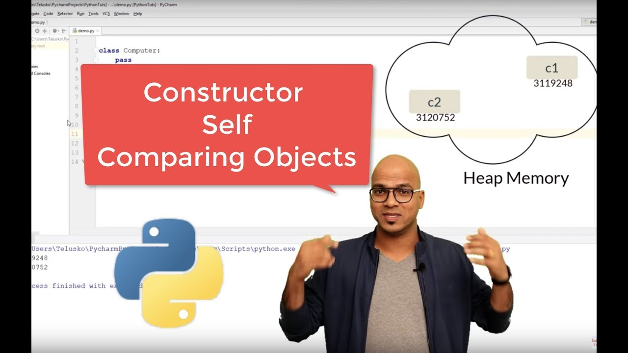 #51 Python Tutorial for Beginners | Constructor, Self and Comparing Objects