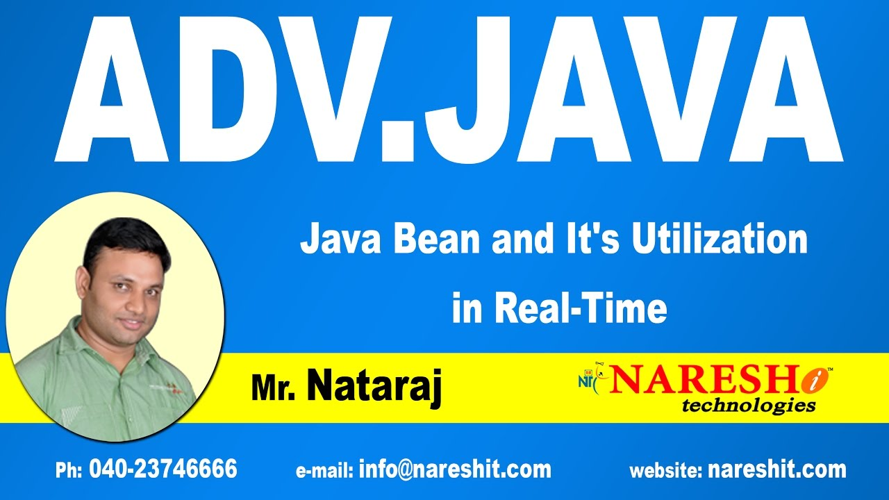 Java Bean and It's Utilization in Real-Time | Advanced Java Tutorial |  Mr.Nataraj