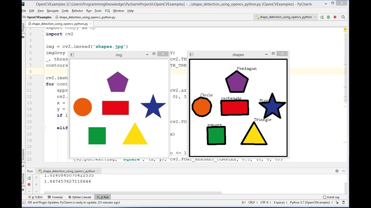OpenCV Python Tutorial For Beginners 25 – Detect Simple Geometric Shapes using OpenCV in Python