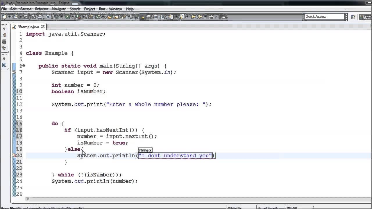 Java Tutorial – 11 – Validating User Input