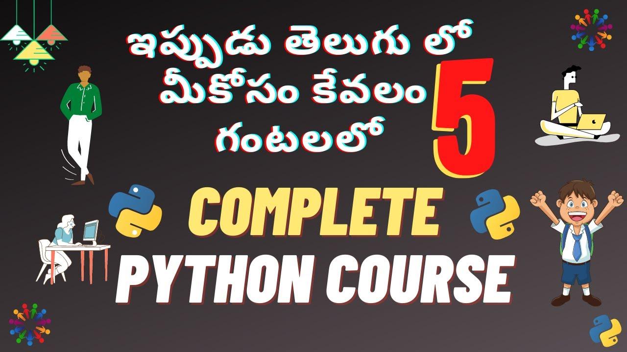 Complete Python Tutorial in Telugu 2020 | jp nan complete python tutorial