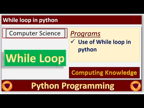 How to use while loop in python || Python Tutorial for Beginners || print table in python