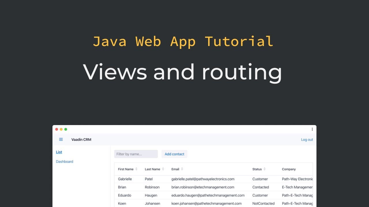 Java tutorial: Vaadin navigation, views, parent layouts, and routing  (part 11)