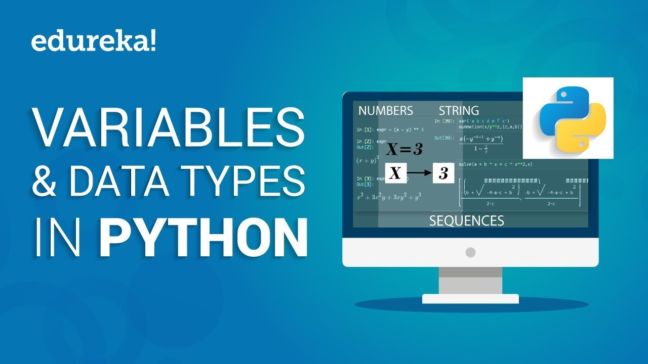 Variables & Data Types In Python | Python Tutorial For Beginners | Python Programming | Edureka