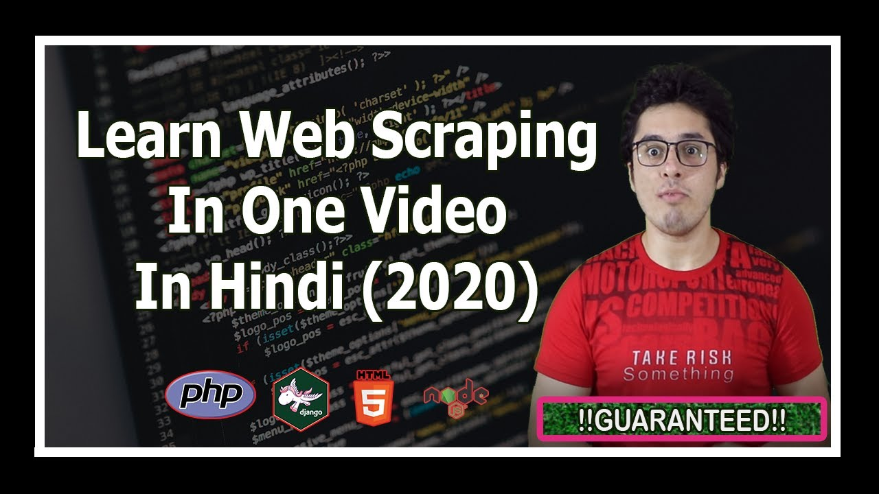 Web Scraping Tutorial using Python and BeautifulSoup in Hindi