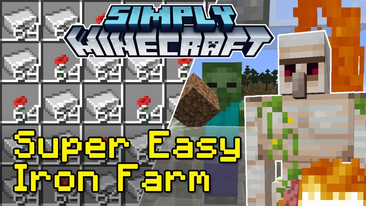 Easy Iron Farm Tutorial | Simply Minecraft (Java Edition 1.16)