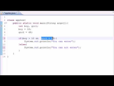 Java Programming Tutorial – 11 – Logical Operators