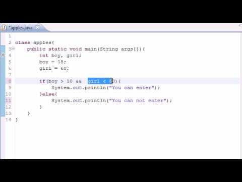 Java Programming Tutorial – 11 – Logical Operators