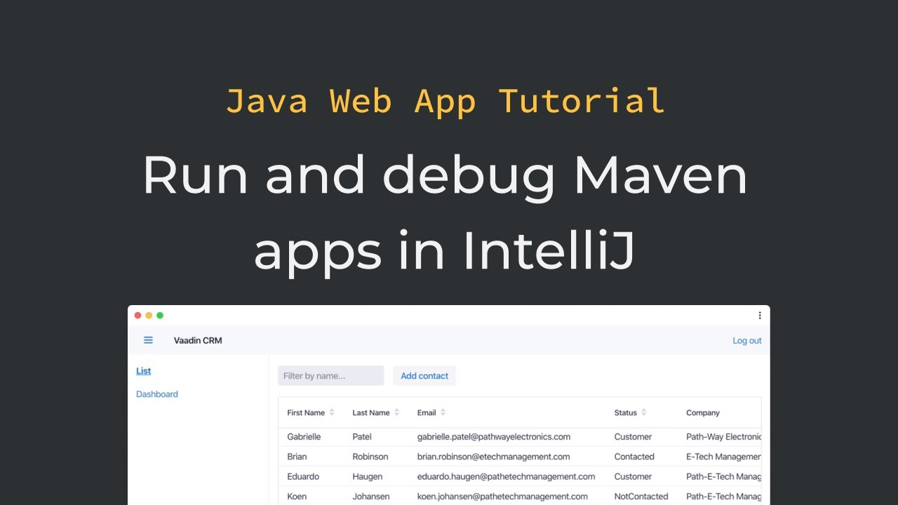 Java tutorial: Running and debugging a Maven-based Java app in IntelliJ  (part 3)