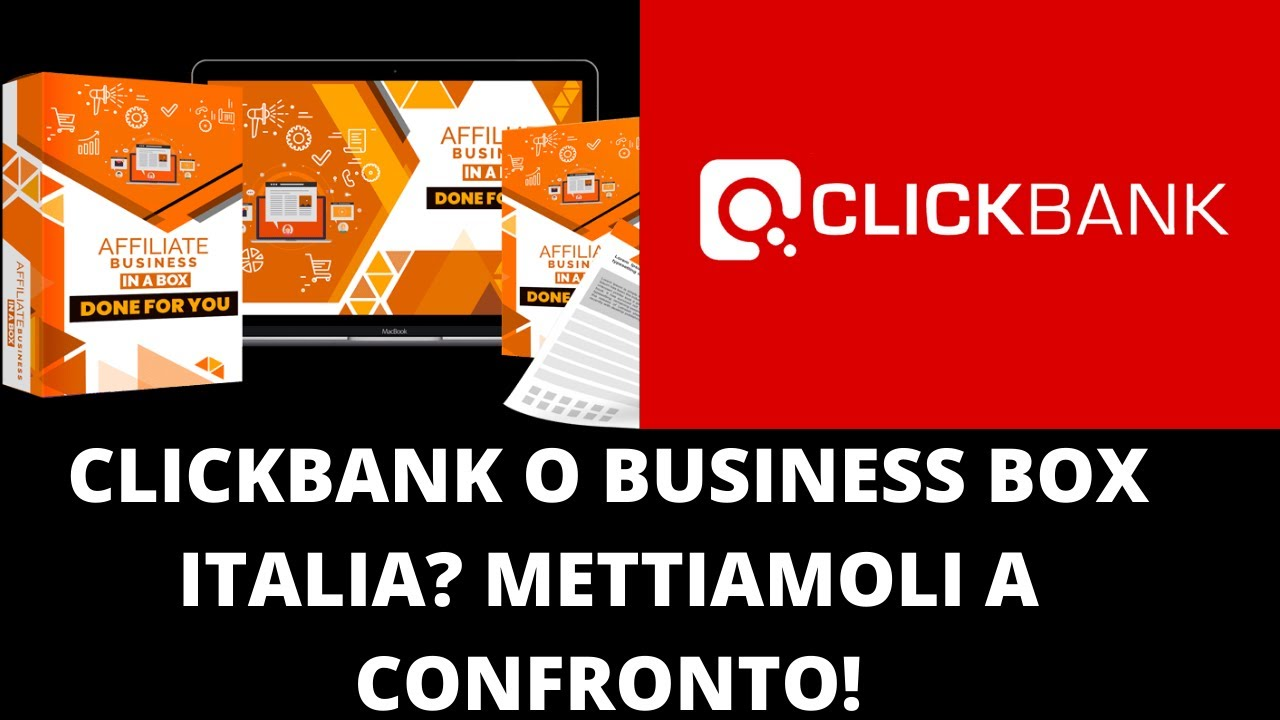Business Box Italia e Clickbank : Affiliate Marketing Tutorial