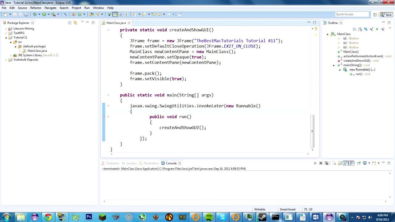 Java Tutorial 11: Hello GUIs!