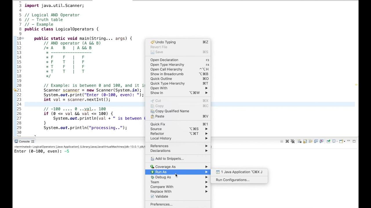 Java Tutorial: Logical AND Operator (&&)