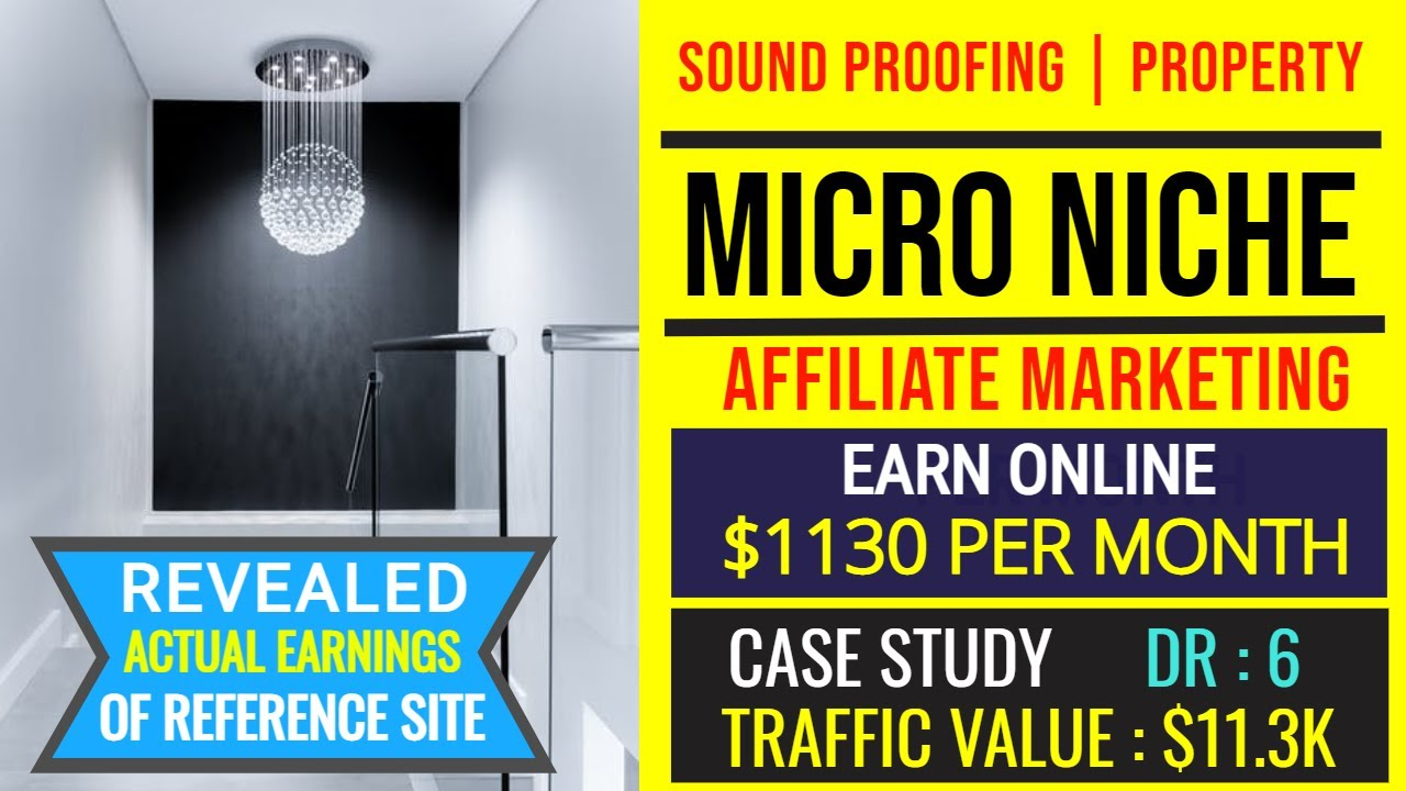 Earn $1130/Month from Affiliate Marketing & Display Ads | Start Soundproof Niche with a Case Study