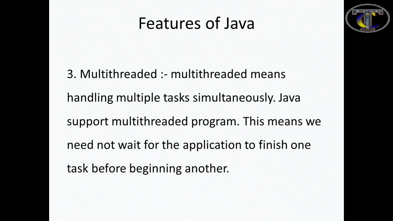 Features of Java|Java tutorial for beginners|Part 2
