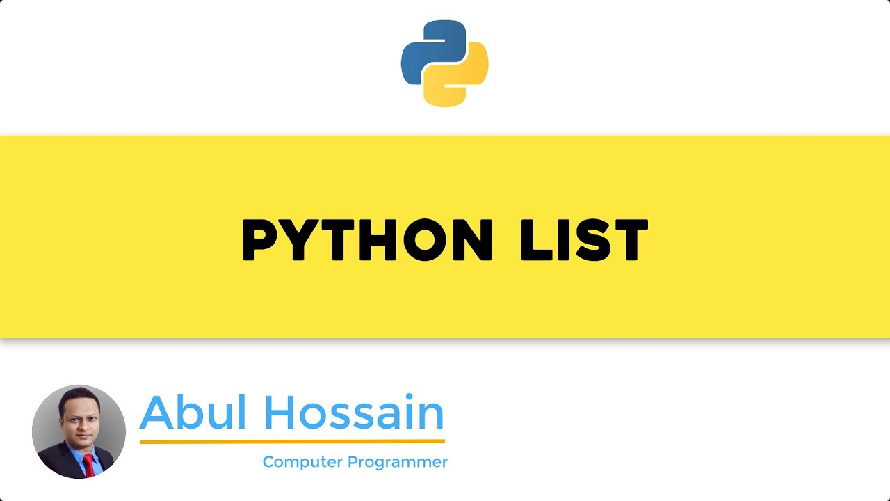 Python tutorial – Python for beginners – LIST data in Python