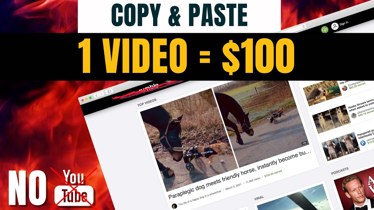 Copy & Paste Videos And Earn $100 Per Video (Complete Tutorial – No YouTube)