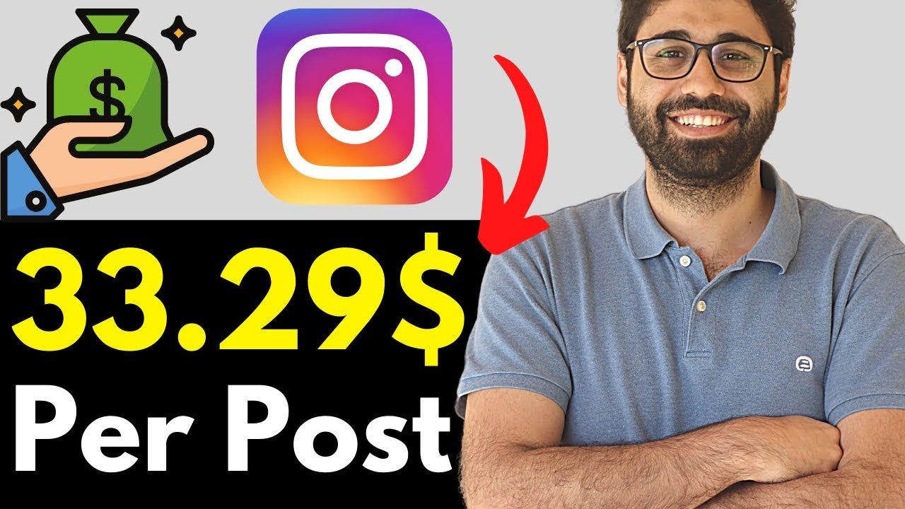 Earn 33.29$ Per Post – The Easiest Way To Make Money Online With Instagram.