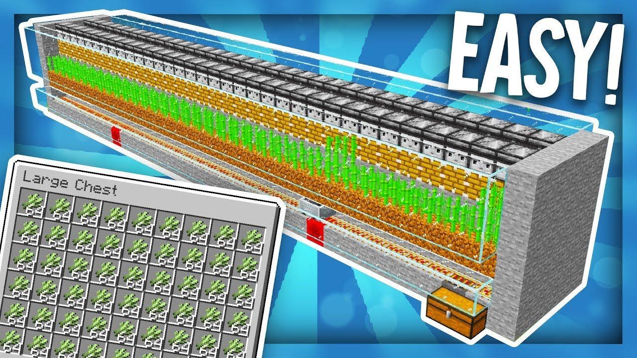 I made fully automatic Sugarcane Farm in Minecraft || Tutorial Minecraft Java Edition || #2