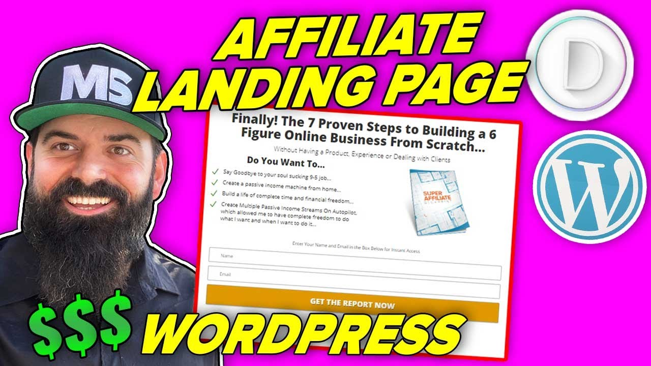 How to Create a Landing Page for Affiliate Marketing with WordPress and Divi Theme