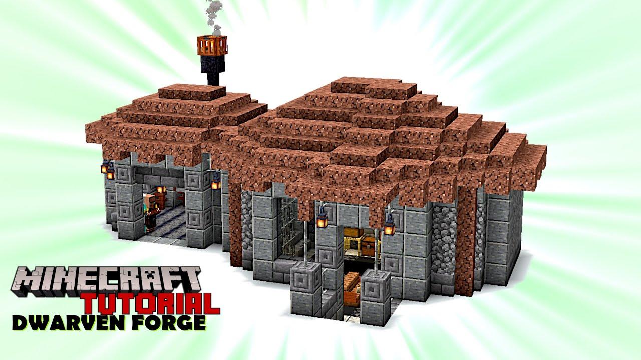 "Minecraft Tutorial | Dwarven Blacksmith Forge – A ""survival friendly"" building! (Java 1.16.5)"