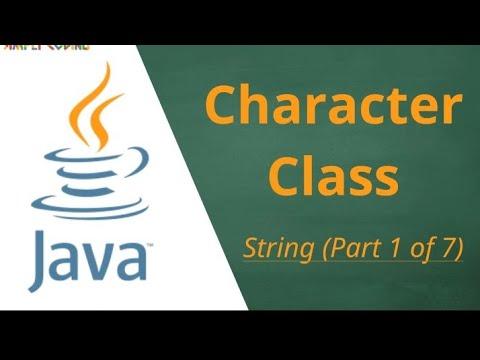 java character class| java programming