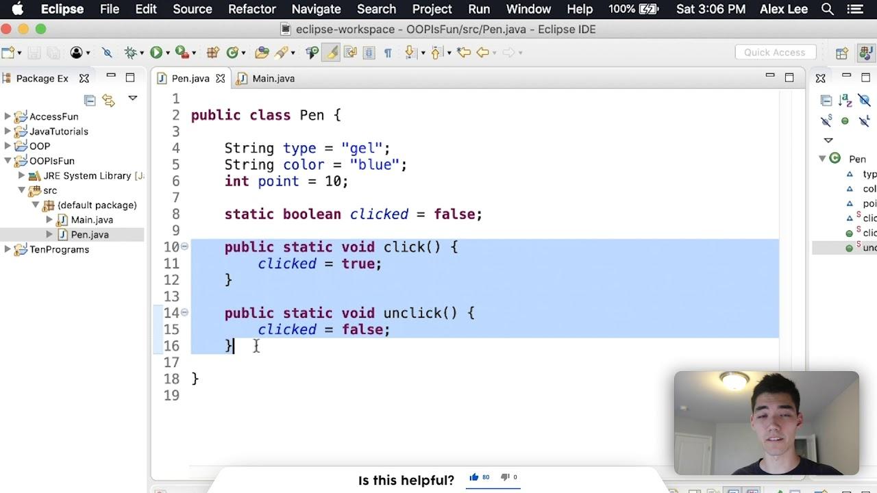 Object-Oriented Programming Java Tutorial (Java OOP)
